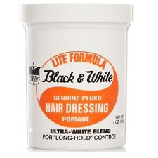Black and White Hair Wax Genuine Hair Dressing Pomade Light Formula 200ml