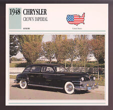 1948 Chrysler Crown Imperial Car Photo Spec Sheet Info Stat ATLAS CARD