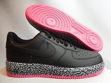 NIKE AIR FORCE 1 BLACK-HYPER PINK-WOLF GREY SZ 10 RARE ELEPHANT! [488298-063]