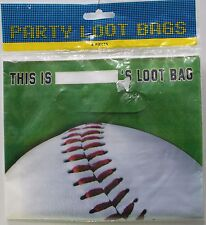 8 BASEBALL PARTY BAGS Loot Birthday Party Favors Candy Kids Children Sports NEW