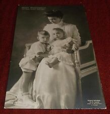 Postcard Vintage Real Photo Princess Victoria Louise of Prussia Germany w/ Kids