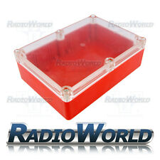 Multi Purpose Waterproof DIY Project Box Enclosure Case IP65 ABS Red / Clear