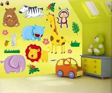 Bear/zebra/monkey/elephant/lion/hippo  nursery/children's bedroom  wall sticker