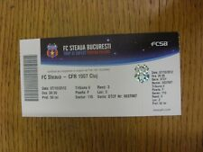 07/10/2012 Ticket: FC Steaua v CFR 1907 Cluj (light fold). Any faults with this