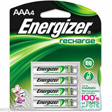 Energizer AAA 4 Pack 850mAh 1.2 Volt NiMH Rechargeable Batteries NH12BP-4