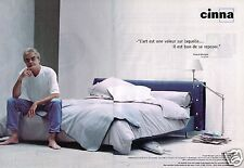 Publicité advertising 2000 (2 pages) Le Lit Cinna Pascal Mourgue