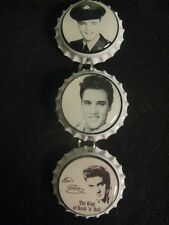 Elvis Presley Bottle Cap Inside Rear View Mirror Ornament ~ **Gift Idea