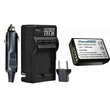 PT LP-E10 LPE10 Battery and Charger for Canon EOS T3 T5 T6 SLR Camera