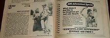 TV AD~ABC AFTERSCHOOL SPECIAL~HEWITT'S JUST DIFFERENT~PERRY LANG~MOOSIE DRIER