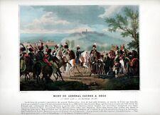 Stampa antica NAPOLEONE BONAPARTE nel 1796 DEGO morte di Causse 1890 Old print