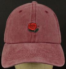 Rosewood Rose Collection Red Baseball Hat Cap with Cloth Strap Adjust