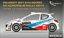 DECALS 1/43 PEUGEOT 207 S2000 - #7 - MAGALHAES - RALLYE ACROPOLE 2014 - D43295