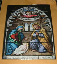 2 Arch NATIVITY CHRISTMAS ADVENT CALENDARS Religious 7+x10 NEW Cardstock
