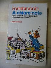 FORTEBRACCIO - A CHIARE NOTE - EDITORI RIUNITI 1981 1°ED. -  A10