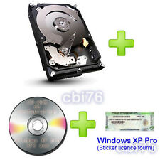 Disque dur 250GO +sticker licence windows XP pro HP +CD-ROM de restauration