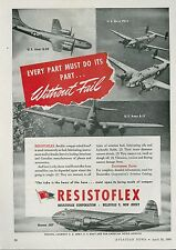 1945 Resistoflex Aviation Ad Boeing 307 B-29 B-17 PV-1 Army Navy Airplanes