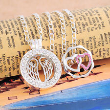 1 Handmade Hollow Living Floating Memory Locket Necklace Hearts & Wings Charms