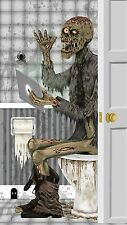 Door Cover- Restroom Zombie Plastic Wall Mural Halloween Decoration D�cor