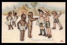 CART.D'EPOCA-illustratore BONORA-colonie CONSEGNA DEL CORREDO