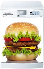 Sticker lave vaisselle déco cuisine électroménager Hamburger réf 596 60x60cm