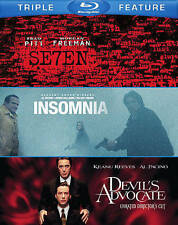 Seven/The Devil's Advocate/Insomnia (Blu-ray Disc, 2014, 3-Disc Set)