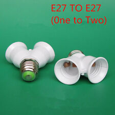 Bayonet E27 To Double E27 Screw Light Bulb Lamp Adaptor Fitting Converter Holder