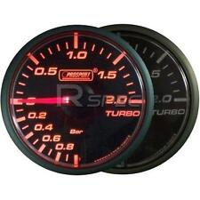 Prosport 45mm Turbo Boost BAR Gauge Amber / Clear Stepper Motor