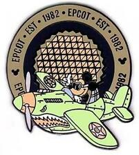 EPCOT EST 1982 MICKEY FLYING WW II GREEN PLANE WDW LE DISNEY PIN
