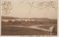 Indiana In Real Photo RPPC Postcard 1913 CRANE LAKE Columbia City BUGGY