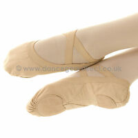 Bloch Pro Elastic Soft Ballet Dance Shoes Split Sole Canvas Ladies S0621