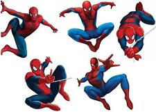 JOBLOT OF 5 SPIDERMAN SMALL IRON ON T SHIRT TRANSFERS WHITE/LIGHT FABRICS