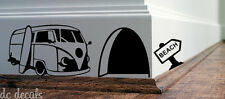 Mouse Hole Wall Art Sticker Surf VAN Vinyl Decal Mice Home Skirting Board Funny