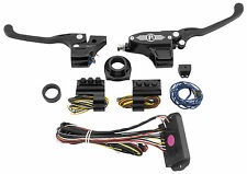 Performance Machine 9/16 Black Can Bus Hand Control Kit w/ Cable Clutch Harleys