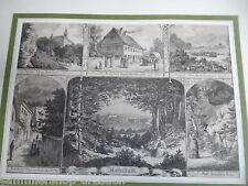 1039 Rudolstadt Sammelblatt mit 6 Ansichten. Zeigt: Gesamtansicht aus der Ferne