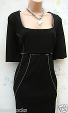 SIZE 12 WIGGLE PENCIL BODYCON DRESS STRUCTURED EVENING *VALENTINES * US 8 EU 40