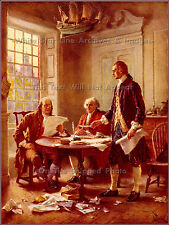 Painting: Writing The Declaration Of Independance, 1776 By J.L.G Ferris