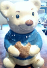 Vintage Metlox Cookie Jar Teddy Bear made in U.S. A.  ds