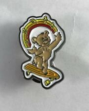 "NEW Obey Skateboard Pin Bear Juggling Mushrooms on Skateboard 1-1/4"" X 3/4"""