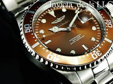 Invicta Men's 43mm Pro Diver Brown Dial Silver Tone 200m Stainless Steel Watch
