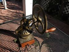 Vintage all Solid Cast Iron Coffee Grinder with large turn Wheel