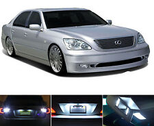 White LED Package - License Plate + Vanity + Reverse for Lexus LS 430 (10 Pcs)
