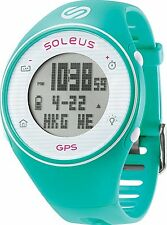 Soleus SG011-345 GPS One Digital Quartz Display Green & White Fitness Watch