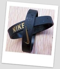 Nike Black Gold Elite Baller band rubber bracelet wristband unisex BEST RATED