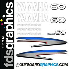 Yamaha 60hp four stroke outboard engine decals/sticker kit