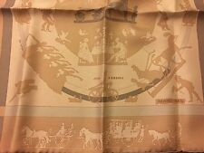 Auth Hermes Petit Carre Scarf Silk Jeux D'ombres Tan And Taupe