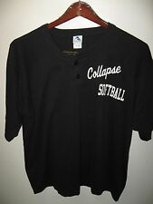 Collapse Softball Team Player Black Button Neck Baseball Jersey #13 T Shirt XLrg