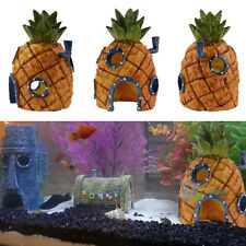 Cute Resin Pineapple Home Underwater for Aquarium Fish Tank Decoration Ornament