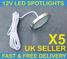 X5 VW T4 T5 TRANSPORTER CAMPER VAN BOAT 12V INTERIOR LED SPOT LIGHTS SLIM FLUSH