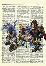 Kingdom Hearts Dictionary Art Print Poster Picture Playstation Game Sora Roxas
