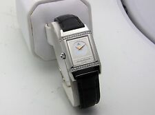 Stainless Jaeger LeCoultre Reverso Duetto Diamond Ladies Manual Wind 266.8.44